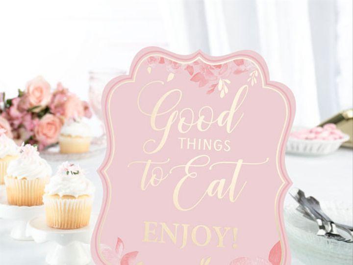 Tmx Pink And Gold Bridal Shower Sign 51 782147 Lynn, MA wedding favor