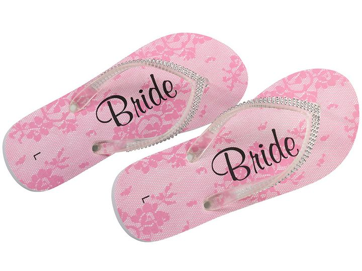 Tmx Pink Bride Flip Flops 51 782147 Lynn, MA wedding favor