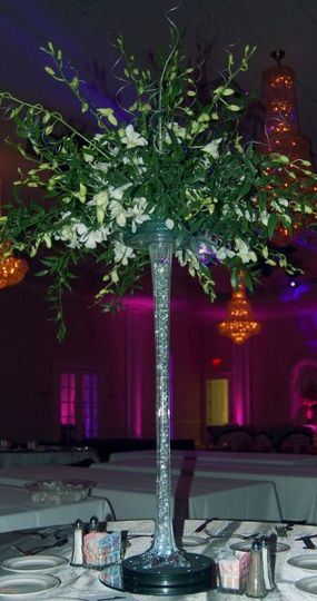 "Held in 24"" Eiffel Tower Vases, Lit from below with LED bases!"