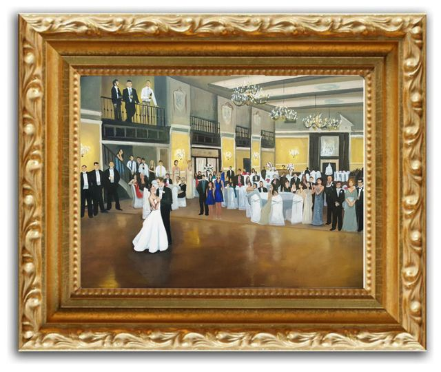 live wedding painting example