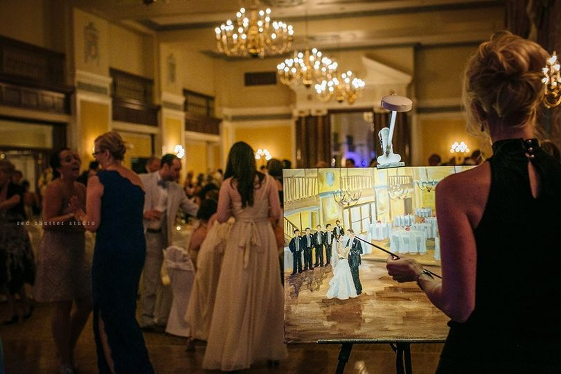 Artistic i Wedding - Live Painting