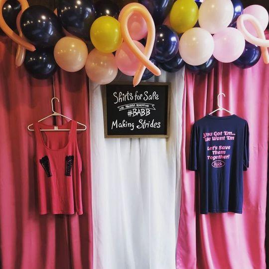 Fundraiser Merchandise Display