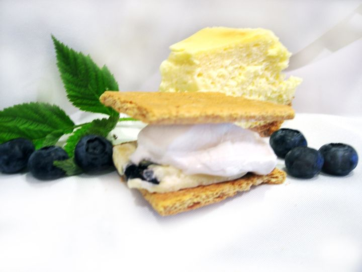 Breckenridge Blueberry Cheesecake Oh My God!  Blueberry Flavored Marshmallow with Cheesecake...