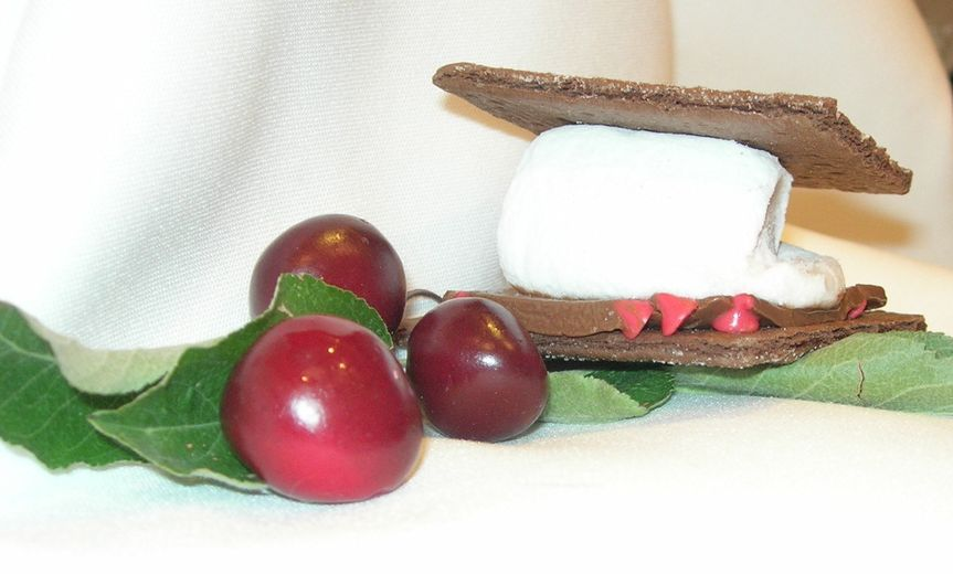 Black Forest Cherry Cherry Flavored Marshmallow with Milk Chocolate Bar Sprinkled with Cherry Chips...