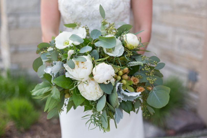 Bride Bouquet White and Green