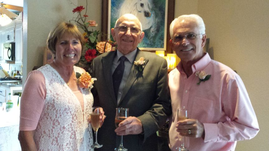 Elderly couple wedding