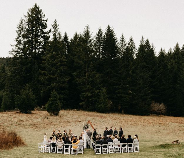 Silver Falls Forest Wedding