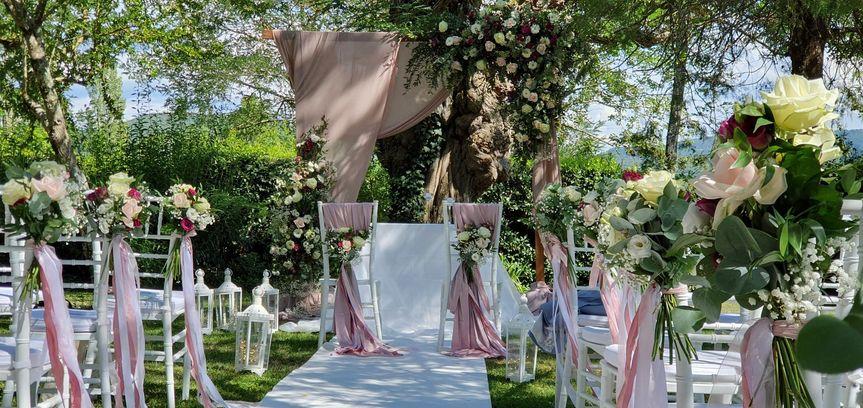 Romantic wedding in villa Cini
