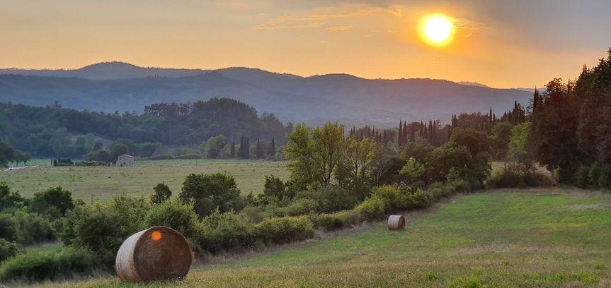 Sunset from villa Cini
