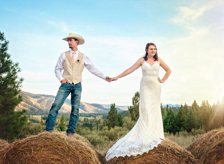 Western wedding portrait