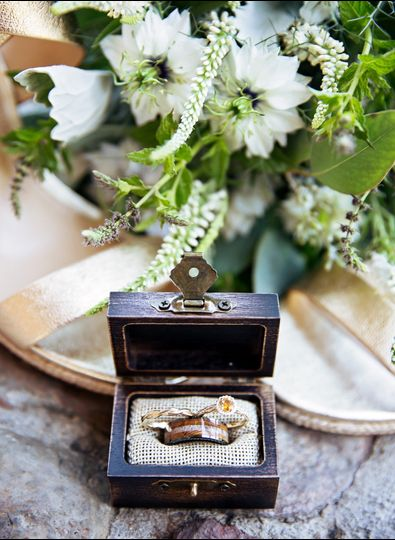 Wedding ring in box