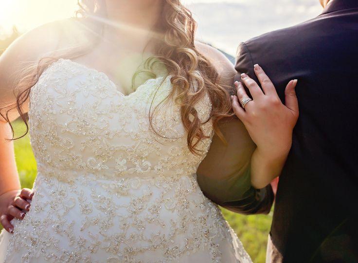 A shining wedding portrait