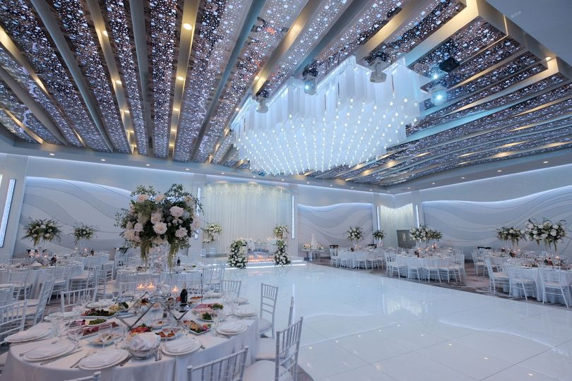 Decorated reception hall