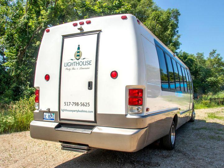 Tmx Isle Royale 22 Passenger Party Bus Rear Door View 51 1067147 1563927292 East Lansing, MI wedding transportation