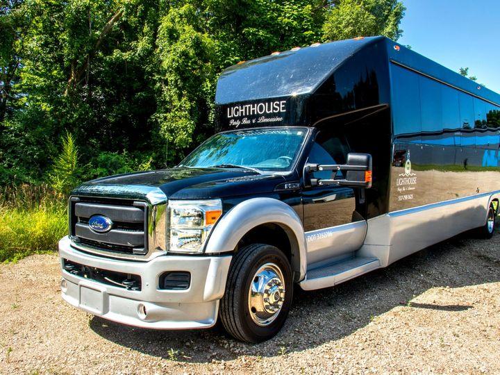 Tmx Spectacle Reef 30 Passenger Party Bus Front 51 1067147 1563927331 East Lansing, MI wedding transportation