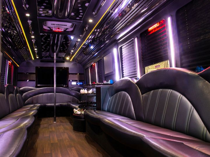 Tmx Spectacle Reef 30 Passenger Party Bus Interior From Driver Partition 51 1067147 1563927339 East Lansing, MI wedding transportation