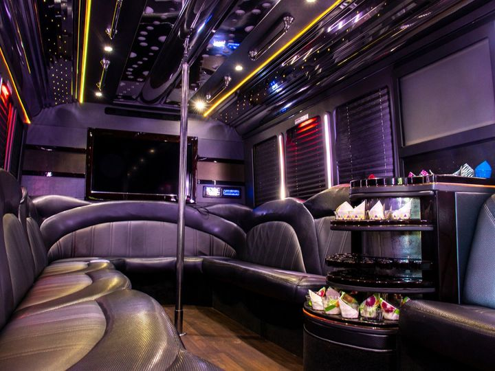 Tmx Spectacle Reef 30 Passenger Party Bus Interior From Front Entry 51 1067147 1563927341 East Lansing, MI wedding transportation