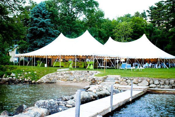 50x70 Century Tent by the water
