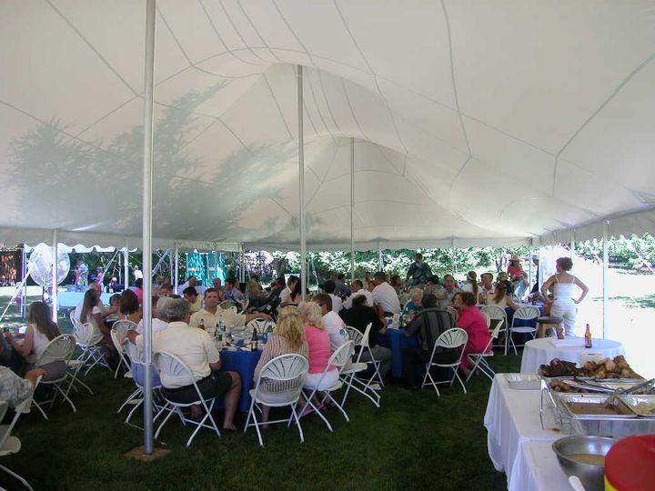 Inside 30 x 60 Century Tent