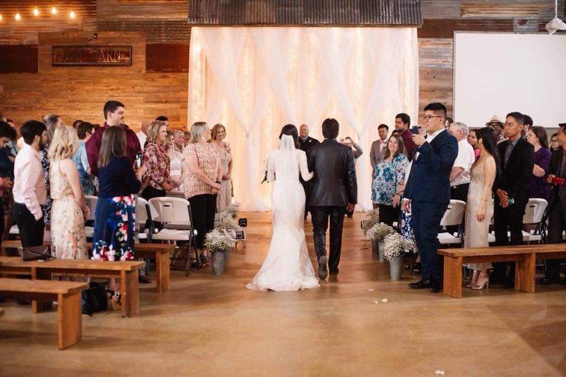 Haybarn Wedding - Drapping