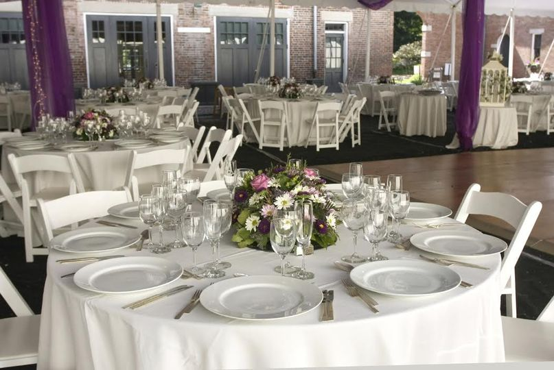 White round tables