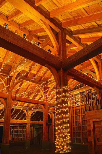 the barn wedding venue 12 inch square beams gatlin
