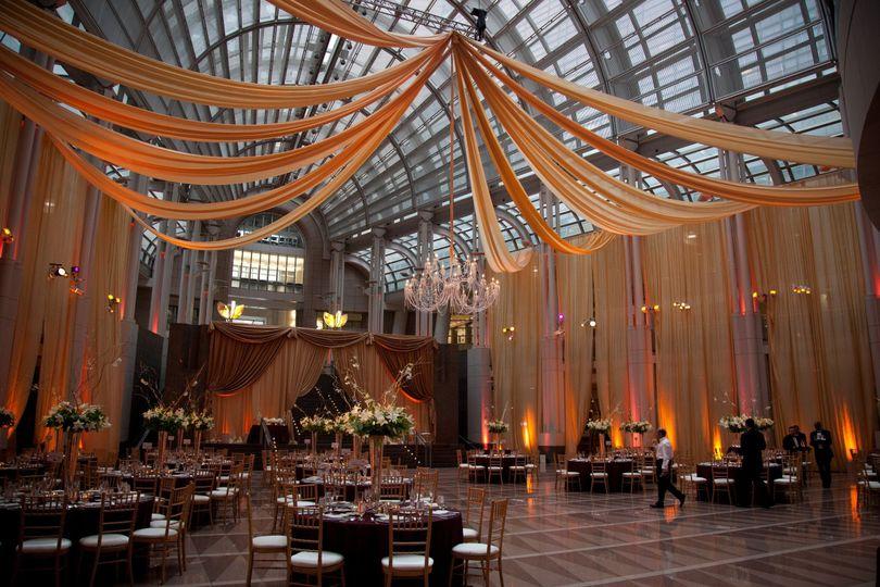 Atrium with drapery