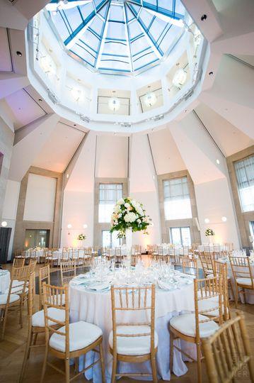 Pavilion set for a classic wedding