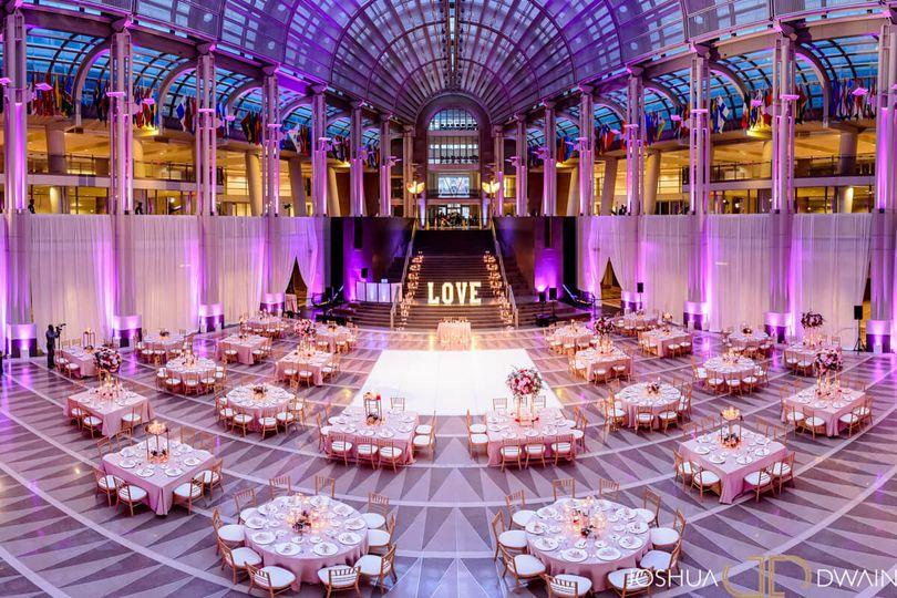 Atrium set for a reception