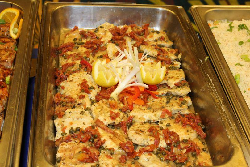 Baked chicken marsala