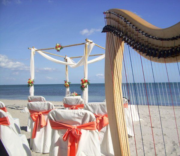 Crandon Park Beach Wedding, Key Biscayne, Miami Beach Harpist