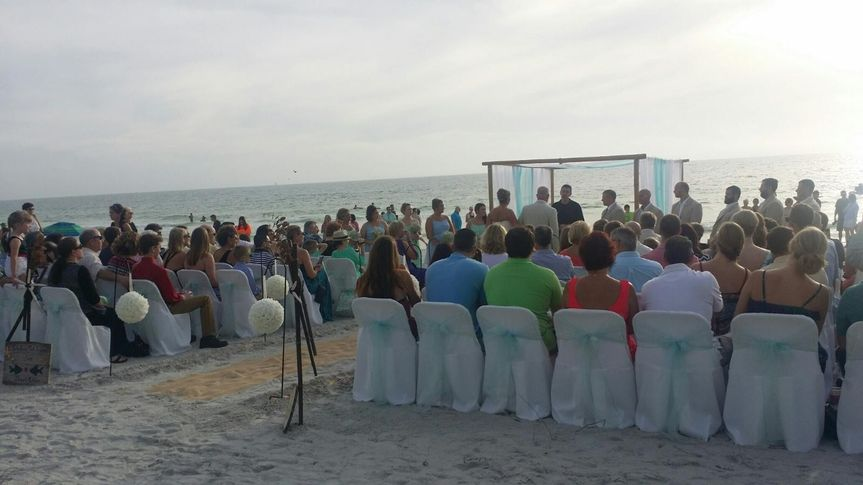 A beach celebration