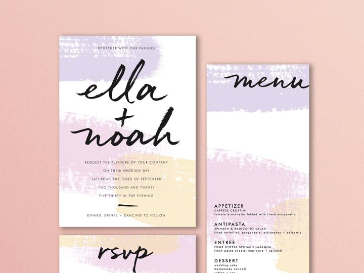 Tmx Ellanoah Pinkbkgrd 51 1924247 158058412421065 Cleveland, OH wedding invitation