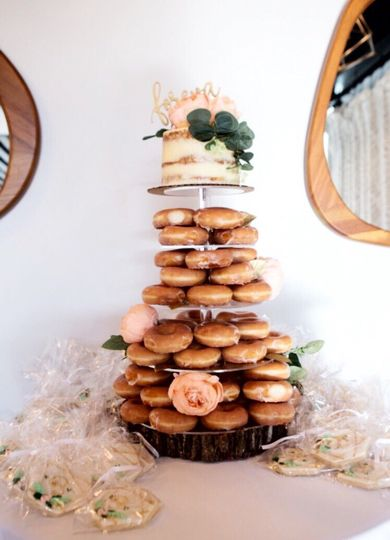 Donut Tower w/ Semi-Naked Cake