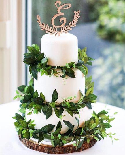 3 Tier Greenery Fondant Cake