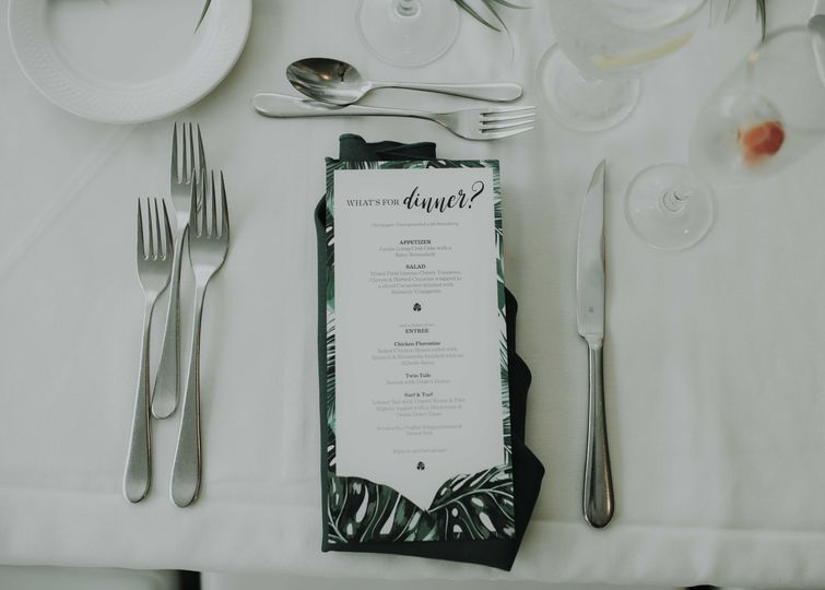 Devin and Tara, day-of details: menu - 2017 |  Photo courtesy of Lily Szabo Photography, she's...