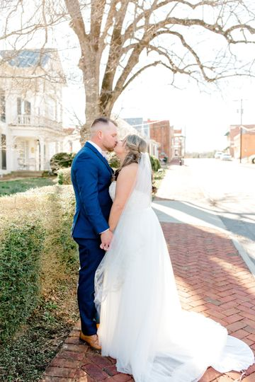 Cooper wedding - a couple in love