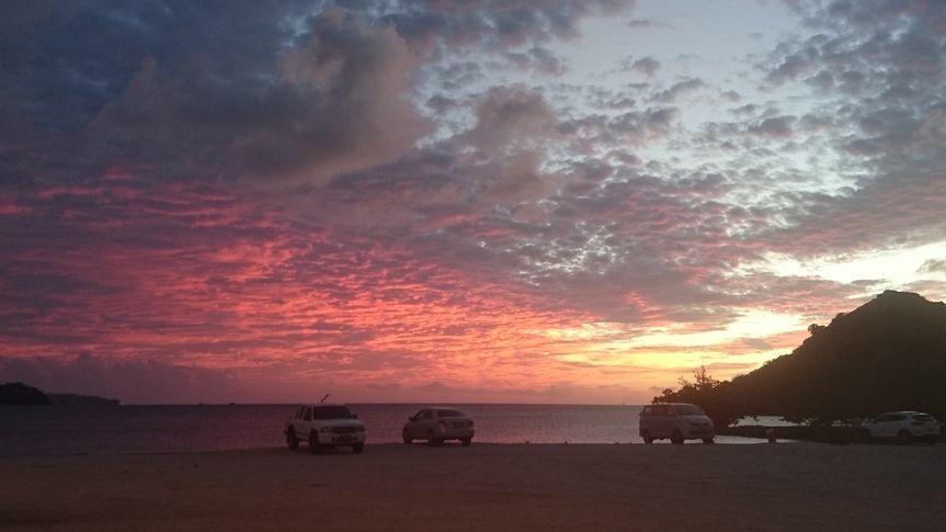 Sunset on Pigeon Island Beach