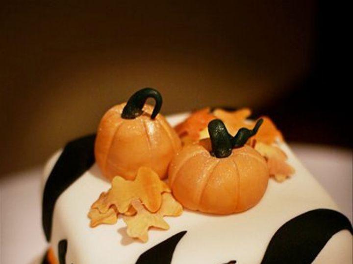 Tmx 1310565836681 LisaandRodsHalloweenWeddingcake5 Plymouth wedding cake
