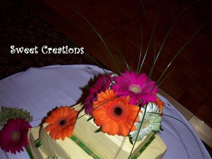 Tmx 1310565986784 Bambooandgerberadaisycake Plymouth wedding cake