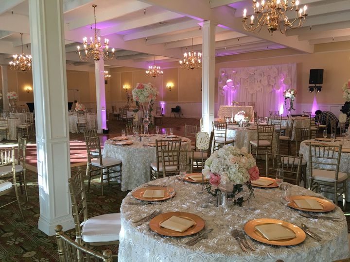 Dining at the banquet hall