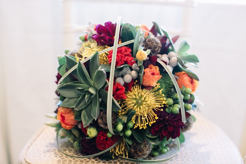 Bouquet arrangement sample