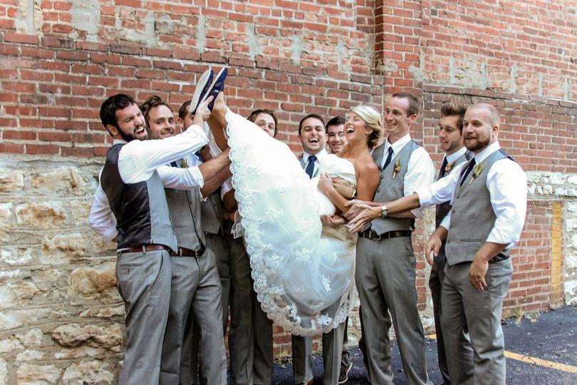 Bride with the gentlemen