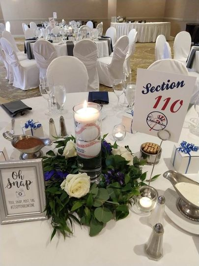 A Baseball themed wedding.