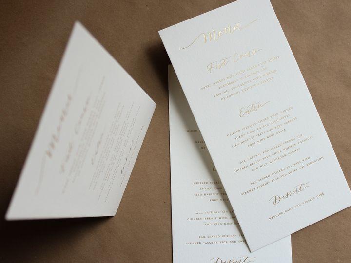 Tmx Gold Foil Menu 51 1949247 158397268334652 Hoboken, NJ wedding invitation