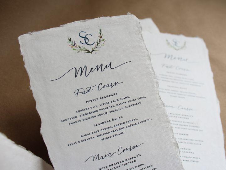 Tmx Handmade Crest Menu 51 1949247 158397268559721 Hoboken, NJ wedding invitation