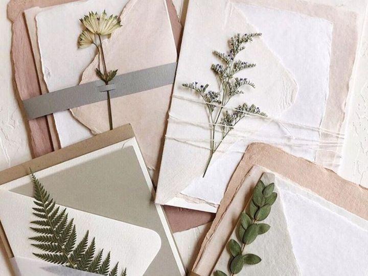 Tmx Handmade Paper With Pressed Flowers 51 1949247 158404679118890 Hoboken, NJ wedding invitation