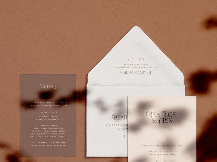 Tmx Leah Wolff Design Wedding Invitations 51 1949247 158559669615312 Hoboken, NJ wedding invitation