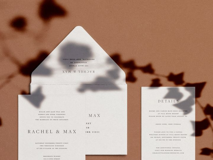 Tmx Rachel Mockup Clay 51 1949247 158559673412326 Hoboken, NJ wedding invitation