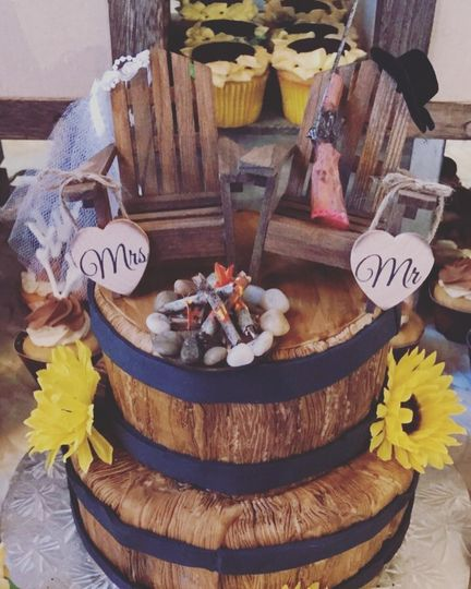 Barrel themed cake